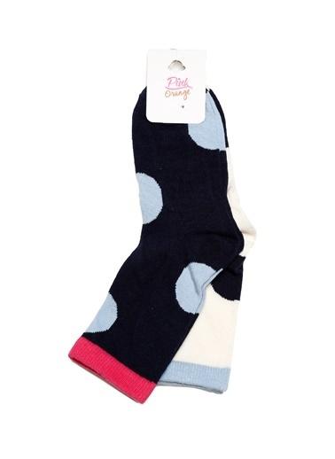 Pink&Orange Soket Çorap Lacivert